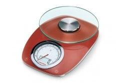 Soehnle 66229 Vintage Style Red, Ψηφιακή Ζυγαριά Κουζίνας 5kg, 1 τεμάχιο