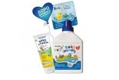 Frezyderm ΠΑΚΕΤΟ με Baby Cream Απαλή, Προστατευτική & Αδιάβροχη Κρέμα Καθημερινής Περιποίησης της Μηρογεννητικής Περιοχής, 175ml μαζί με Baby Laundry Υγρό Απορρυπαντικό Ειδικά Σχεδιασμένο για Βρεφικά Ρούχα, 1L & ΔΩΡΟ Βρεφικό Βιβλίο Μπάνιου