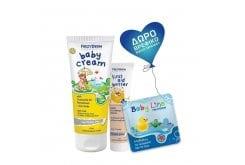 Frezyderm ΠΑΚΕΤΟ με Baby Cream Απαλή, Προστατευτική & Αδιάβροχη Κρέμα Καθημερινής Περιποίησης της Μηρογεννητικής Περιοχής, 175ml μαζί με First Aid Butter Gel που αντιμετωπίζει Χτυπήματα, Εκχυμώσεις & Μώλωπες, 50ml & ΔΩΡΟ Βρεφικό Βιβλίο Μπάνιου