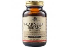 Solgar L-Carnitine 500mg Συμπλήρωμα Διατροφής Καρνιτίνης για Αύξηση Ενέργειας, Αντοχής & Ενίσχυση του Μεταβολισμού - Ιδανικό για Αθλητές, 60tabs
