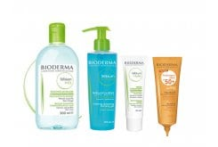 Bioderma Pack for Sensitive Skin from Acne Treatments, 4 pieces