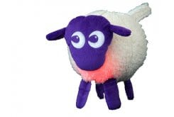 Probaby Ewan the Sheep Purple Προβατάκι με 4 Ήχους Μήτρας / Καρδιάς & Ρόζ Φωτάκι, Μωβ Χρώμα, 1 τεμάχιο
