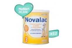 Πακέτο Προσφοράς 12 x Novalac 3 Ρόφημα Γάλακτος σε Σκόνη για Παιδιά μετά τον 1ο Χρόνο, 12 x 400gr