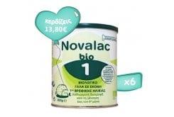 Πακέτο Προσφοράς 6 x Novalac Bio 1 Βιολογικό Γάλα σε Σκόνη 1ης Βρεφικής Ηλικίας από τη γέννηση ως τον 6ο μήνα, 6 x 400g