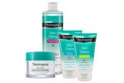 Neutrogena Skin Detox Routine με Ενυδατική Κρέμα Προσώπου, 50ml & Νερό καθαρισμού, 400ml & Μάσκα Καθαρισμού Προσώπου με Άργιλο, 150ml & Scrub για Απολέπιση Προσώπου, 150ml