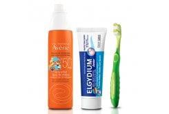 Παιδικό Summer Box με Avene Spray Enfant SPF50+ Παιδικό Αντιηλιακό, 200ml & Elgydium Junior Bubble Παιδική Οδοντόκρεμα με γεύση Τσιχλόφουσκας, 50ml & Elgydium Junior Οδοντόβουρτσα για Παιδιά 7-12 ετών