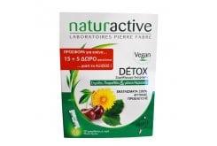 Naturactive Detox Promo, Συμπλήρωμα Διατροφής Με Σημύδα, Πικραλίδα & Μίσχοι Κερασιού Για Αποτοξίνωση του Οργανισμού, (15+5 Δώρο), 20 φακελλίσκοι