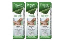 3 x Power Health Flat Belly Συμπλήρωμα κατά του Μετεωρισμού, 3 x 10 αν. δισκία