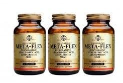 3 x Solgar Meta Flex - Glucosamine Chondroitin Hyaluronic Acid MSM, 3 x 60 tabs, Παρέχει στον οργανισμό το κατάλληλο δομικό υλικό για την πλήρη και αποτελεσματική στήριξη και ενίσχυση της δομής των αρθρώσεων, των χόνδρων, και των τενόντων.