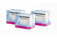 3x Physiodose Στείρος φυσιολογικός ορός σε αμπούλες μιας δόσης, για τη ρινική και οφθαλμολογική υγιεινή, 3x 30αμπούλες x 5ml/αμπ.