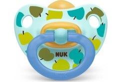 Nuk Happy Kids Ορθοδοντική Πιπίλα Καουτσούκ με Κρίκο, από 18+ μηνών, 1 τεμάχιο - Μπλε