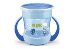 NUK Mini Magic Cup με χείλος και καπάκι,160ml - Γαλάζιο
