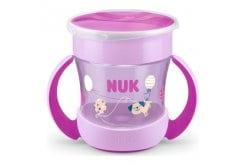 NUK Mini Magic Cup με χείλος και καπάκι,160ml - Ροζ