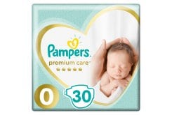 Pampers Premium Care Value Pack No.0 (Premature) 1-2.5 kg Βρεφικές Πάνες, 30 τεμάχια