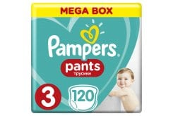 Pampers Pants Mega Pack No.3 (Midi) 6-11 kg Βρεφικές Πάνες Βρακάκι, 120 τεμάχια