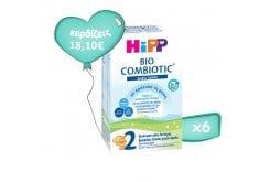 Πακέτο Προσφοράς 6 x Hipp Bio Combiotic 2 Βρεφικό Βιολογικό Γάλα Χωρίς Άμυλο, 6 x 600 gr