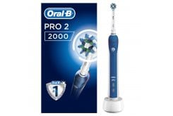 OralB PRO2 2000 CrossAction Ηλεκτρική Επαναφορτιζόμενη Οδοντόβουρτσα, 1 τεμάχιο