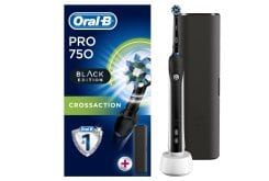 Oral B Pro 750 3D CrossAction Black Edition & Travel Case, 1 piece