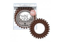 Invisibobble POWER Λαστιχάκια Μαλλιών για πολύ δυνατά πιασίματα μαλλιών, 3 τεμάχια - Pretzel Brown