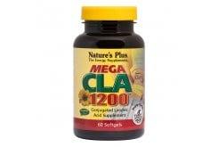 Nature's Plus Mega CLA 1200mg Συζευγμένο Λινολεϊκό Οξύ, 60 softgels