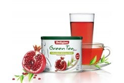 DELIGIOS Green Tea Plus με χυμό Ρόδι, 230 gr