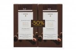 Korres PROMO -50% ΣΤΗ ΔΕΥΤΕΡΗ ΒΑΦΗ Argan Oil Advanced Colorant 5.0 Καστανό Ανοιχτό Μόνιμη Βαφή Μαλλιών με Τεχνολογία Pigment Lock που Κλειδώνει το Χρώμα, 50ml