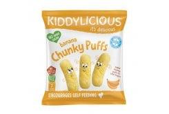 Kiddylicious Banana Chunky Puffs Γαριδάκια Μπανάνα 7m+, 12g