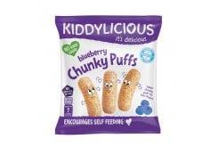 Kiddylicious Blueberry Chunky Puffs Γαριδάκια Μύρτιλο 7m+, 12g