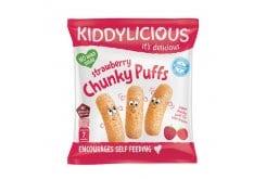 Kiddylicious Strawberry Chunky Puffs Γαριδάκια Φράουλα 7m+, 12g