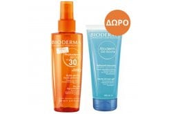 Bioderma PACK with Photoderm Bronz Dry Oil SPF30 & TOGETHER with Atoderm Gel Douche Shower Gel, 500ml