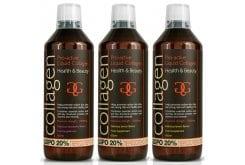 3x Collagen Pro Active Liquid Υγρό Πόσιμο Κολλαγόνο Ιδανικό για την Υγεία του Δέρματος, των Μαλλιών, των Νυχιών & των Αρθρώσεων - Γεύση Λεμόνι, 2x600ml & Γεύση Φράουλα, 1x600ml