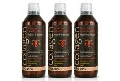 3x Collagen Pro Active Liquid Υγρό Πόσιμο Κολλαγόνο Ιδανικό για την Υγεία του Δέρματος, των Μαλλιών, των Νυχιών & των Αρθρώσεων - Γεύση Λεμόνι, 3x600ml