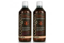 2x Collagen Pro Active Liquid Υγρό Πόσιμο Κολλαγόνο Ιδανικό για την Υγεία του Δέρματος, των Μαλλιών, των Νυχιών & των Αρθρώσεων - Γεύση Φράουλα, 2x600ml