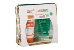 Panthenol Extra Promo Pack Sun Care Face & Body Milk SPF50, 150ml & Aloe Vera Gel, 150ml & Gift a Pouch