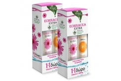 2 x Power Health (1+1 ΔΩΡΟ) με Echinacea Extra με Στέβια Αναβράζουσα Εχινάτσια με Γεύση Λεμόνι, 2 x 20 eff. tabs & μαζί Vitamin C 500mg Αναβράζουσα Βιταμίνη C με Γεύση Πορτοκάλι, 2 x 20 eff. tabs
