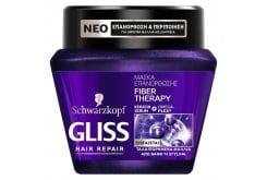 Schwarzkopf Gliss Fiber Therapy Μάσκα για Ταλαιπωρημένα Μαλλιά από Βαφές & Styling, 300ml