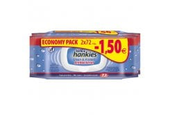 Wet Hankies Antibacterial Promo -1,50€ Αντιβακτηριδιακά Μαντηλάκια με Αιθυλική Αλκοόλη (2x72), 144 τεμάχια