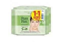 Pom Pon Eyes & Face Cleansing & Mattifying Υγρά Μαντηλάκια Ντεμακιγιάζ Προσώπου Με Μύρο Για Λιπαρό Δέρμα (2x20) 40 τεμάχια