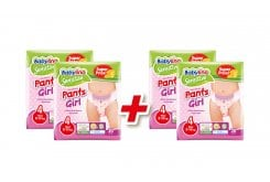 Babylino Promo (2 + 2 FREE) Pants Girls Maxi No.4 (8-15kg) Absorbable & Certified Friendly Baby Nappies Panties, 4 x 20 pieces