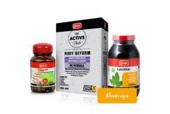 Lanes Πακέτο Προσφοράς για Αδυνάτισμα με Active Club Body Reform, 60tabs & Kcaligram Glucomannan 500mg, 60caps & Lecithin 1200mg, 200caps