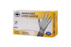 Θαλλασινός Γάντια με Πούδρα Latex 100 τεμαχίων, μέγεθος Large, 1 συσκευασία