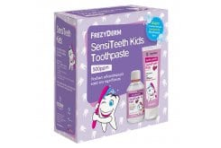 Frezyderm SensiTeeth Kids Tooth Paste 500ppm Οδοντόκρεμα για παιδιά από 3 ετών, 50ml & ΔΩΡΟ Frezyderm SensiTeeth Kids Mouthwash Στοματικό Διάλυμα κατά της τερηδόνας για παιδιά από 3 ετών, 100ml