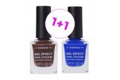 Korres (1+1) Gel Effect Nail Colour No.61 Seashell, 11ml & ΜΑΖΙ No.86 Ocean Blue, 11ml