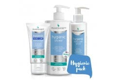 Pharmasept Hygienic Pack with Hygienic Shower, 1Lt & Hygienic Extra Calm Lotion, 250ml & Hygienic Hand Care Intensive Cream, 75ml