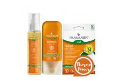 Pharmasept Thermo Power Pack with Aid Relief Hot Patch, 5pcs. & Relief Massage Oil, 100ml & Thermo Power Gel,100ml
