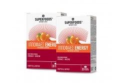 2 x Superfoods Ιπποφαές Energy ΠΡΟΣΦΟΡΑ -2€ Συμπλήρωμα Διατροφής για άτομα με Αυξημένες Καθημερινές Ανάγκες, 2 x 30caps