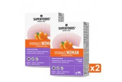 2 x Superfoods Ιπποφαές Woman Ενισχυμένο Συμπλήρωμα Διατροφής για τις Βασικές Ανάγκες των Γυναικών, 2 x 30caps