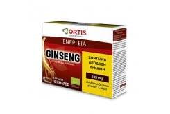 Ortis Ginseng Συμπλήρωμα Διατροφής Με Τζίνσενγκ, 10 amps x 15ml