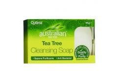 Optima Australian Tea Tree Antiseptic Cleansing Soap, Αντισηπτικό Σαπούνι, 90 gr