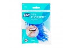 TePe Mini Flosser Οδοντικό Νήμα μια χρήσης, μπλε χρώμα, 36 τεμάχια